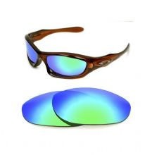 NEW POLARIZED CUSTOM GREEN LENS FOR OAKLEY MONSTER DOG SUNGLASSES